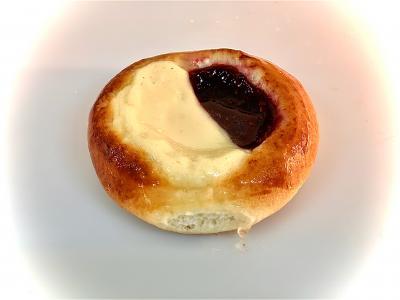 Drożdżówka mini ze serem i maliną - Drożdżówki